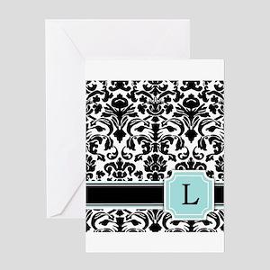 Fancy Letter L Greeting Cards Cafepress