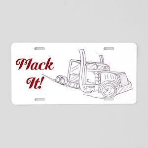 Mack It Big Truck Aluminum License Plate