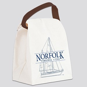 Norfolk VA - Canvas Lunch Bag