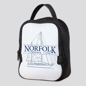 Norfolk VA - Neoprene Lunch Bag