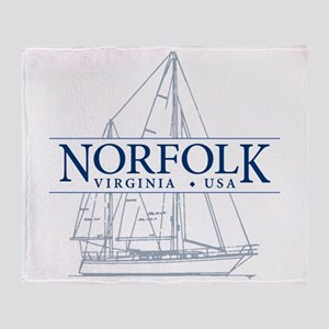 Norfolk VA - Throw Blanket