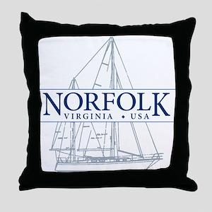 Norfolk VA - Throw Pillow