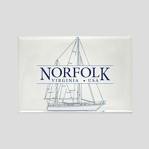 Norfolk VA - Rectangle Magnet