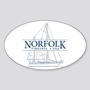 Norfolk VA - Sticker (Oval)
