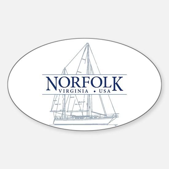Norfolk VA - Sticker (Oval)
