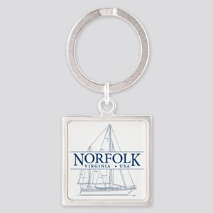 Norfolk VA - Square Keychain