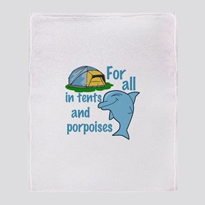 Tents and Porpoises Throw Blanket