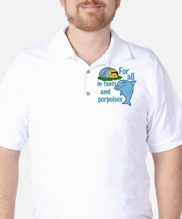 Tents and Porpoises Golf Shirt