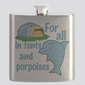 Tents and Porpoises Flask