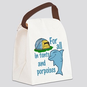 Tents and Porpoises Canvas Lunch Bag