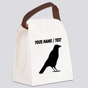 Custom Crow Silhouette Canvas Lunch Bag