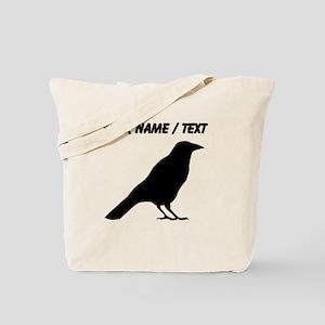 Custom Crow Silhouette Tote Bag