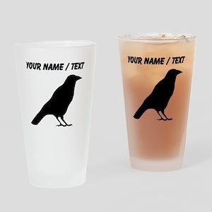 Custom Crow Silhouette Drinking Glass