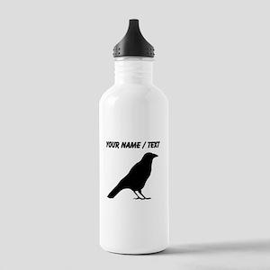 Custom Crow Silhouette Water Bottle