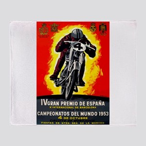 1953 Spanish Grand Prix Motorcycle Race Poster Thr