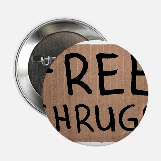"Free Shrugs Cardboard Sign 2.25"" Button"