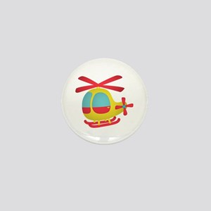 Cute and Colourful Helicopter for Kids Mini Button