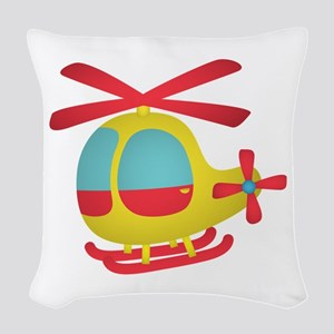 Cute and Colourful Helicopter for Kids Woven Throw
