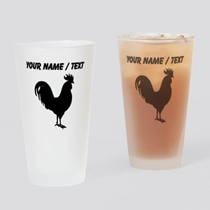 Custom Rooster Silhouette Drinking Glass