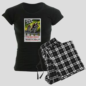 1954 Spanish Grand Prix Motorcycle Race Poster Paj