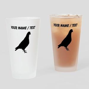 Custom Pigeon Silhouette Drinking Glass
