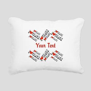 Customize I Love Track Rectangular Canvas Pillow