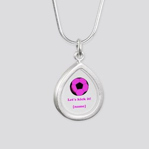 Personalized Lets Kick It! - PINK Necklaces