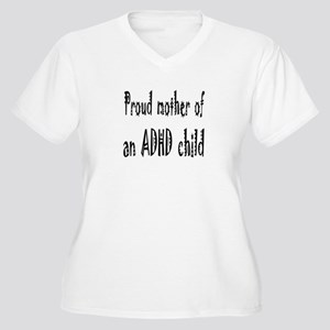 Plus-size V-neck T for mother of an ADHD child