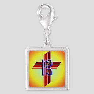 Alto clef cross Silver Square Charm