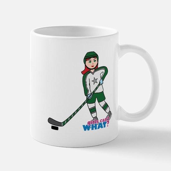 Hockey Player Girl Light/Red Mug