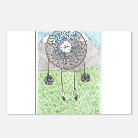 Cherokee Rose Dream Catcher Postcards (Package of