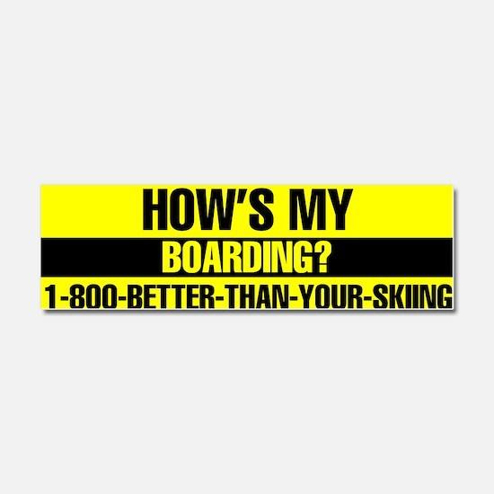 Cute Snowboarding Car Magnet 10 x 3