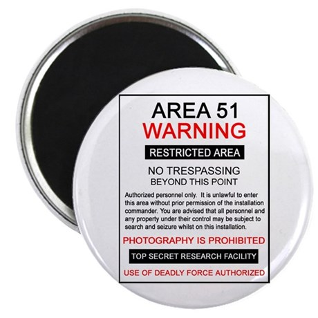 Area 51 Warning Magnet
