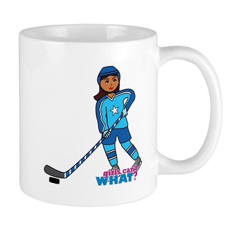 Hockey Player Girl Dark Mug