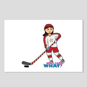 Hockey Player Girl Medium Postcards (Package of 8)