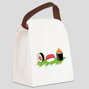 Maki Nigiri Ikura Sushi Canvas Lunch Bag