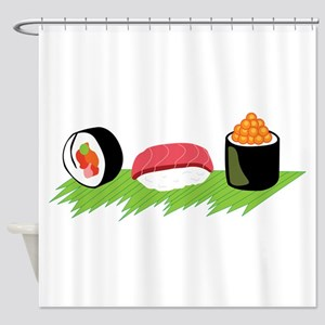Maki Nigiri Ikura Sushi Shower Curtain