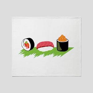 Maki Nigiri Ikura Sushi Throw Blanket