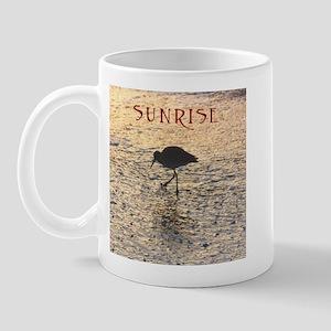Sanibel Wading Bird Sunrise Mugs