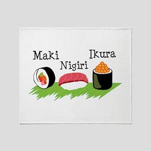 Make Nigiri Ikura Throw Blanket