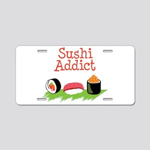 Sushi Addict Aluminum License Plate