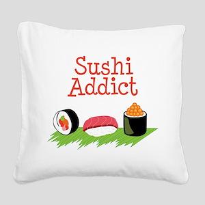 Sushi Addict Square Canvas Pillow