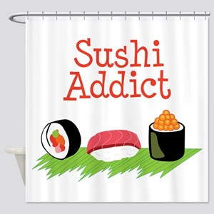 Sushi Addict Shower Curtain