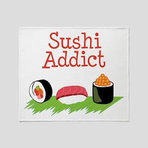 Sushi Addict Throw Blanket