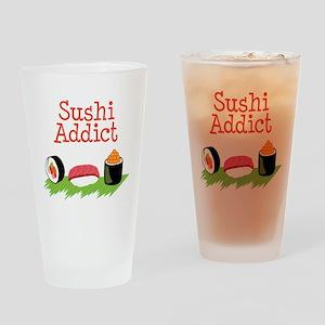 Sushi Addict Drinking Glass
