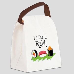 I Like It RAW! Canvas Lunch Bag
