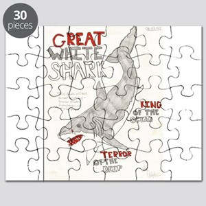 Great White Shark Poster Puzzle