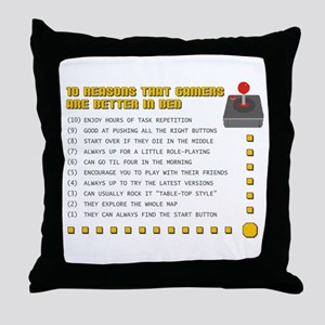 Gamer Love Throw Pillow