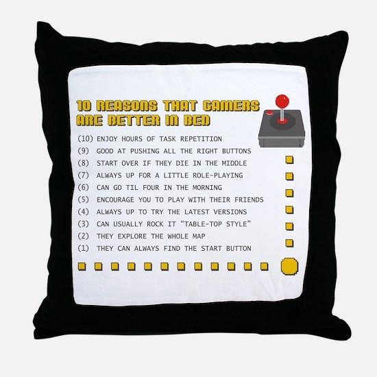 Gamer Love Throw Pillow