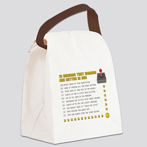 Gamer Love Canvas Lunch Bag